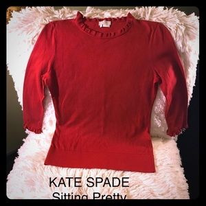 KADE SPADE Red hot pull over sweater WOW